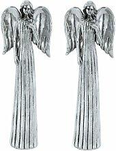 2 Réglez les anges protecteurs décoration argent