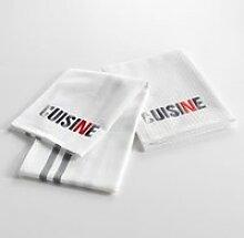 2 serviettes torchons  50 x 70 cm top cuisine gris