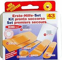 2 X ® wundmed kit de premier secours 43 pièces