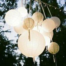 20-25-30cm LED solaire chinois lanternes étanche