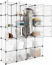 20-Cube Armoire de Chambre Penderie Modulable