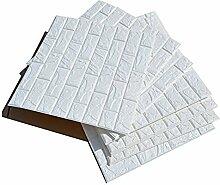 20 PCS 3D Imitation Brique Blanc Stickers