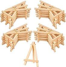 20 Pcs Mini chevalets de Table en Bois,Mini Avec