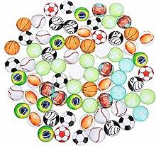 20 pièces dôme en verre Cabochons boule de sport