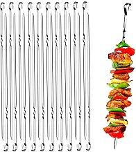 20 pièces Kebab plat en métal Brochettes longues