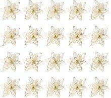 20 pièces paillettes tissu fleur pendentif
