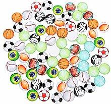 20 pièces verre dôme Cabochons boule de sport