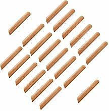 20 poignées de tiroir en bois, armoire de cuisine