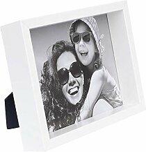 20 x 25 cm Box Cadre Photo, Blanc