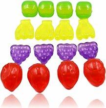 20x glaçons réutilisables en forme de fruits.