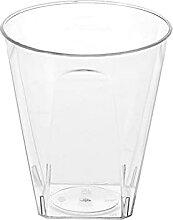 20 x Verrine 6cl, Plastique Transparent (5 x 5,5