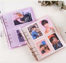 200 poches Photo Album porte-carte gelée couleur