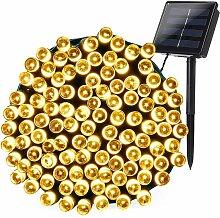 200LED décoration de chaîne de lumière solaire