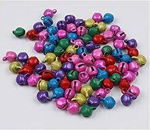 200pcs / lot 6mm Mini Mini Multicolor Bell Jingle