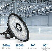 200W UFO LED Projecteur Industreil 90 ° Angle de