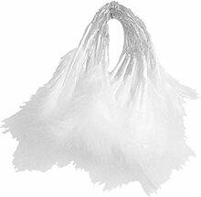 20LED plume blanche Guirlande à piles blanches de