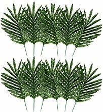 20pcs Thème Jungle artificielle feuilles de