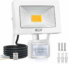 20W Projecteur LED Avec Détecteur Blanc Chaud,