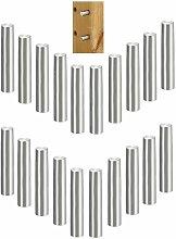 20x taquet étagère universel acier tenon 5mm x