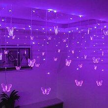 220V 110V 3.5m Papillon LED Rideau Guirlande De