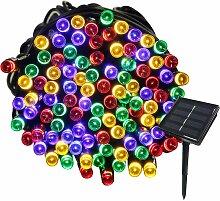22M Guirlande Solaire 200 LED 8 Jeux de Lumière