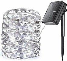22M LED Guirlande Solaire Extérieure, Guirlande