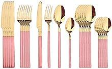 24pcs / Set Green Gold Cutlery Set 304 Vaisselle