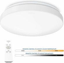 24W Plafonnier LED Rond Dimmable Lampe de Plafond