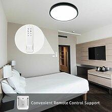 24W Plafonnier LED Télécommande 3000K-6500K IP40