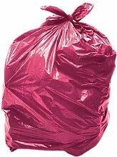 25 x 90L Rouge Sac poubelle coloré / Sac poubelle