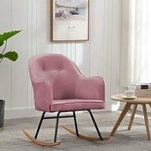 27126-Vintage Fauteuil à bascule - Chaise à
