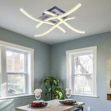 28W 4 Lumières Blanc Chaud Plafonnier LED, Lampe