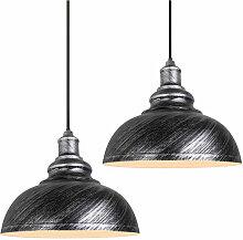 2Pack Lustre en Fer Suspension Plafond Eclairage