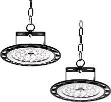 2PCS 200W UFO Lampe industrielle LED, 20000LM