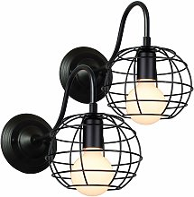2pcs Applique Murale Industrielle Lampe Abat-jour
