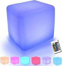 2PCS Cube Tabouret Siège extérieur imperméable