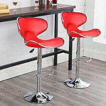 2PCS Tabourets de Bar Chaise de Cuisine Petit