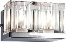 2x applique LED luminaire mural couloir cristal