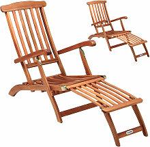 2x Chaise longue en bois Queen Mary - transat bain