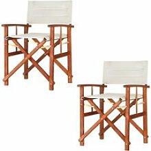 2x Chaises de régie - Chaise de metteur en scène