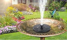 2x fontaine de jardin solaire - ronde-fleur