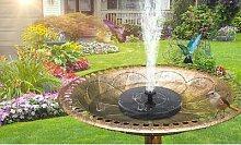 2x fontaine de jardin solaire - ronde