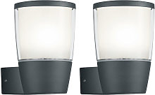 2x Lampe de projecteur murale d'extérieur LED