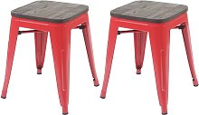 2x tabouret 397 avec siège en bois, tabouret en