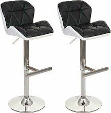 2x Tabouret de bar 156, chaise bar/comptoir ~