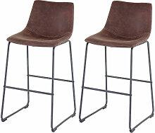 2x tabouret de bar 180, chaise bar/comptoir, tissu