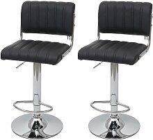 2x tabouret de bar 266, chaise de comptoir avec
