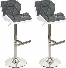 2x tabouret de bar HHG-156, chaise de bar /