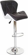 2x tabouret de bar HHG-156, chaise de comptoir,