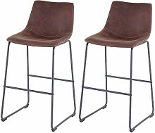 2x tabouret de bar HHG-180, chaise bar/comptoir,